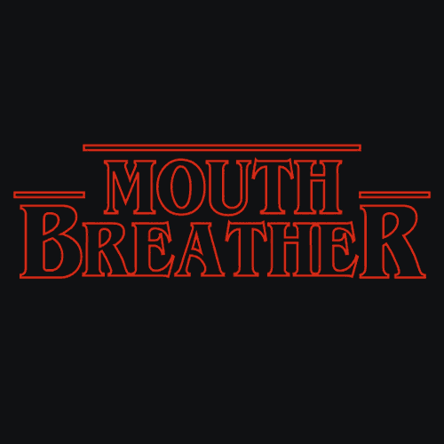 Iphone Product Red Wallpaper Mouth Breather T Shirt Tv Related Apparel Textual Tees