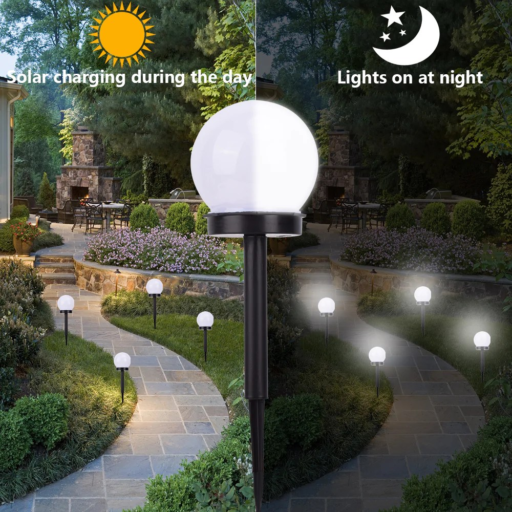 Outdoor Led Lawn Lights Solar Sensor Ball Smart Light Control 14061031 Chihulychandelier