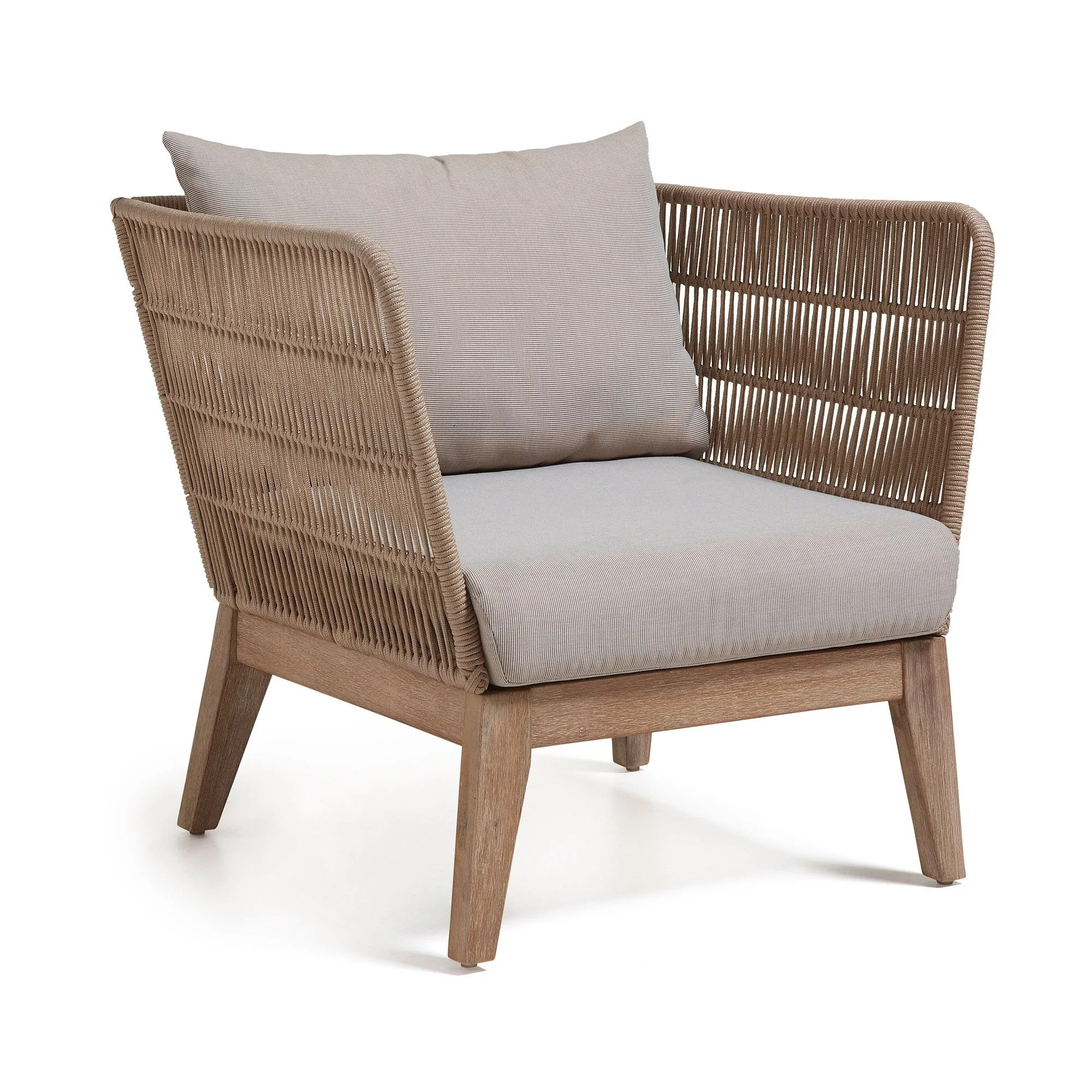 Loungechair Outdoor Stuhl Rattan Style Sessel Wuud Interior