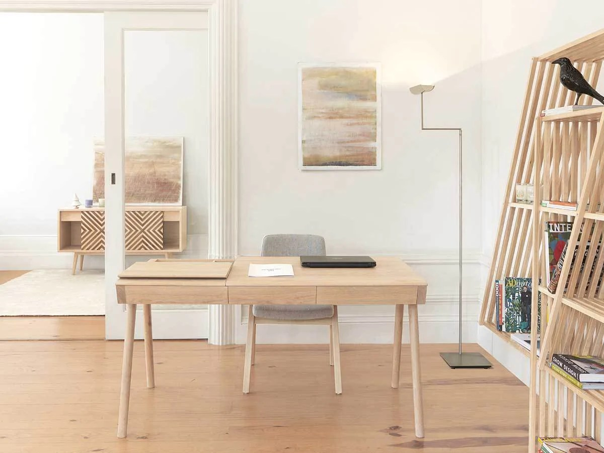 The Furnish How To Furnish The Perfect Home Office Choosing A Desk Couch