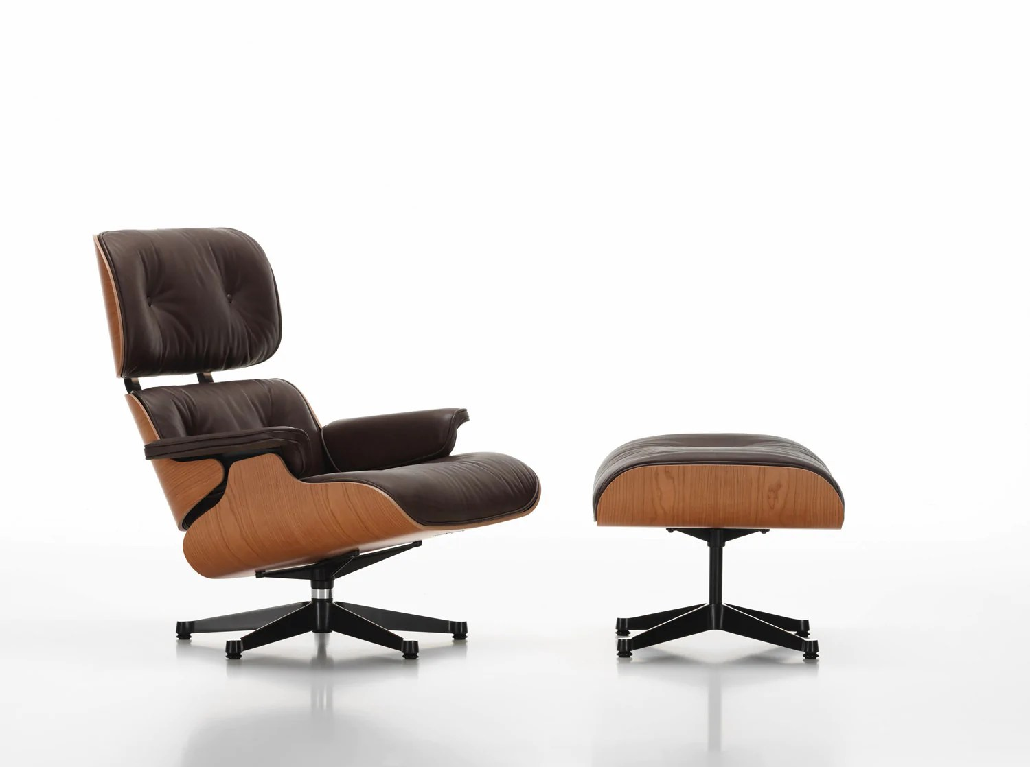 Chair Eames Eames Lounge Chair - American Cherry - Couch Potato Company