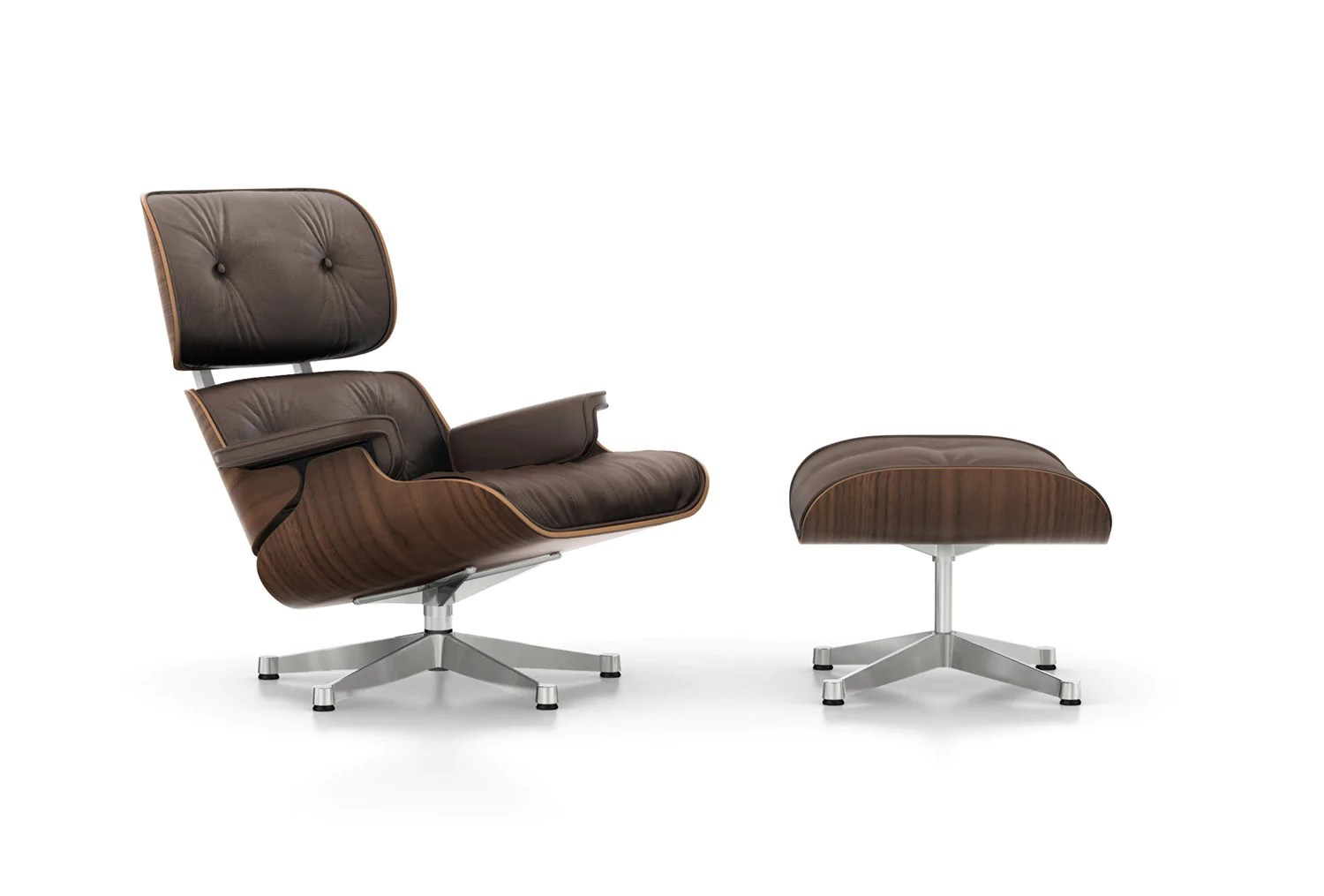 Eames Lounge Sessel Eames Lounge Chair Black Pigmented Walnut