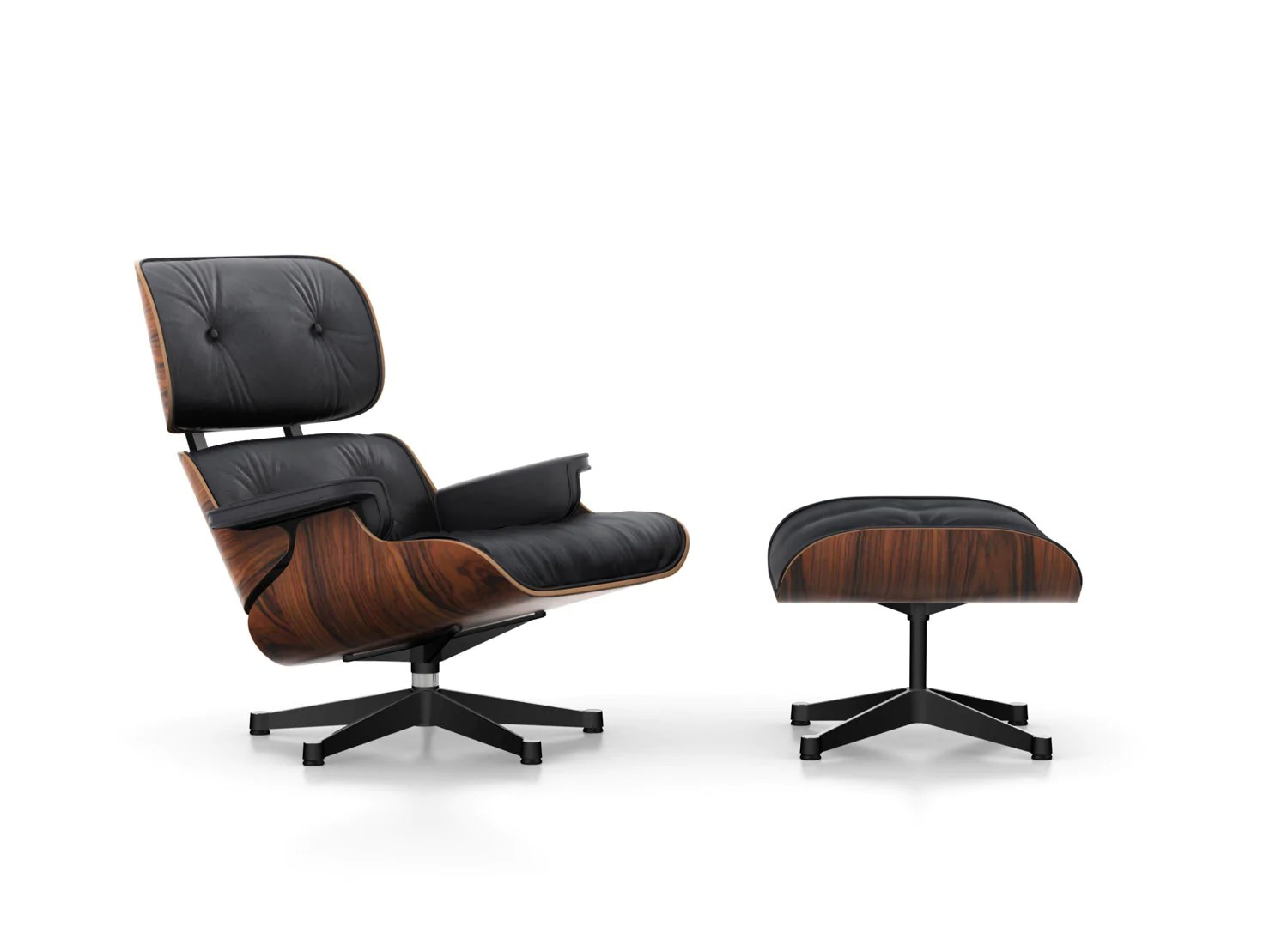Chair Eames Eames Lounge Chair - Santos Palisander - Couch Potato Company