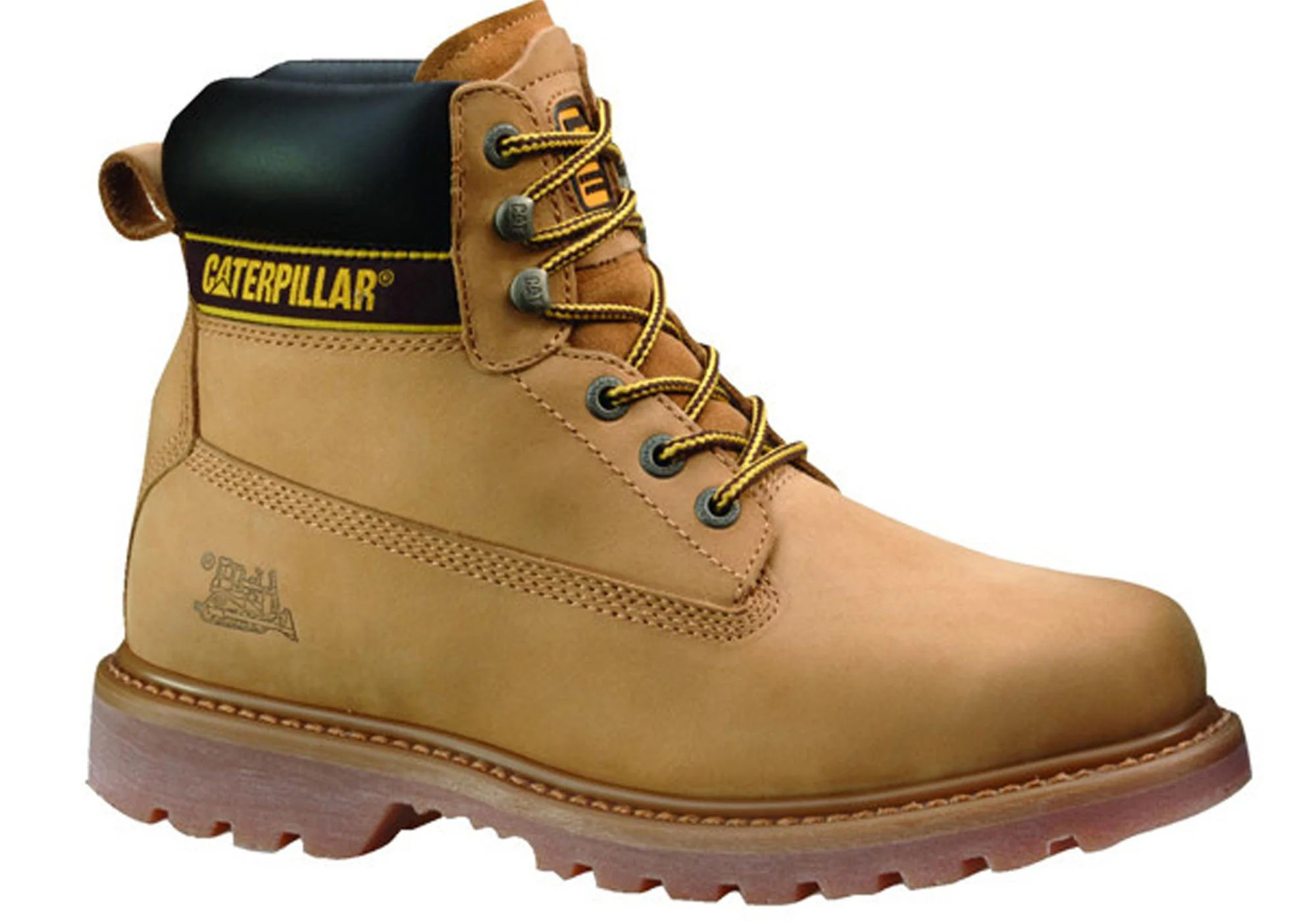 Caterpillar Cat Holton Laceup Steel Toe Mens Work Boots