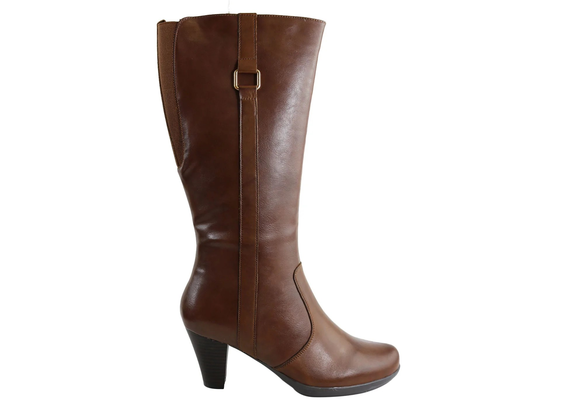 Natural Comfort Rebecca Womens Leather Knee High Mid Heel