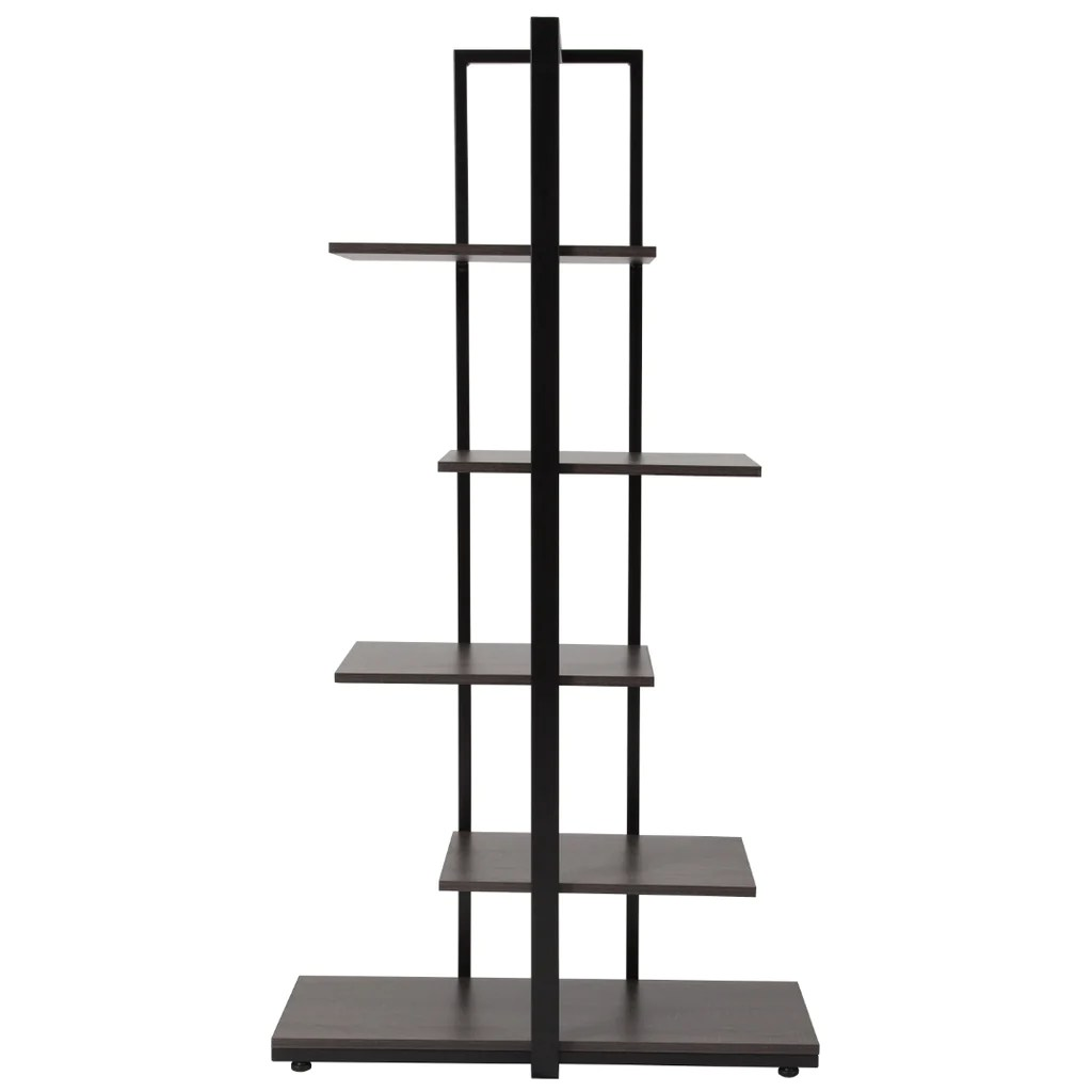Homewood Collection 5 Tier Decorative Etagere Storage Display Unit Boo English Elm - Etageres Decoratives