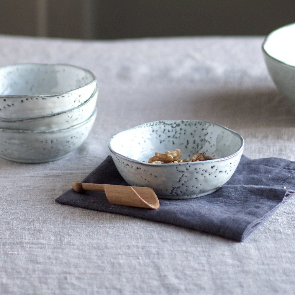 House Doctor Rustic Rustic Bowl With Speckled Grey Glaze