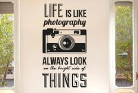 Life Is Like Photography CUT IT OUT Wall Stickers uk and ...