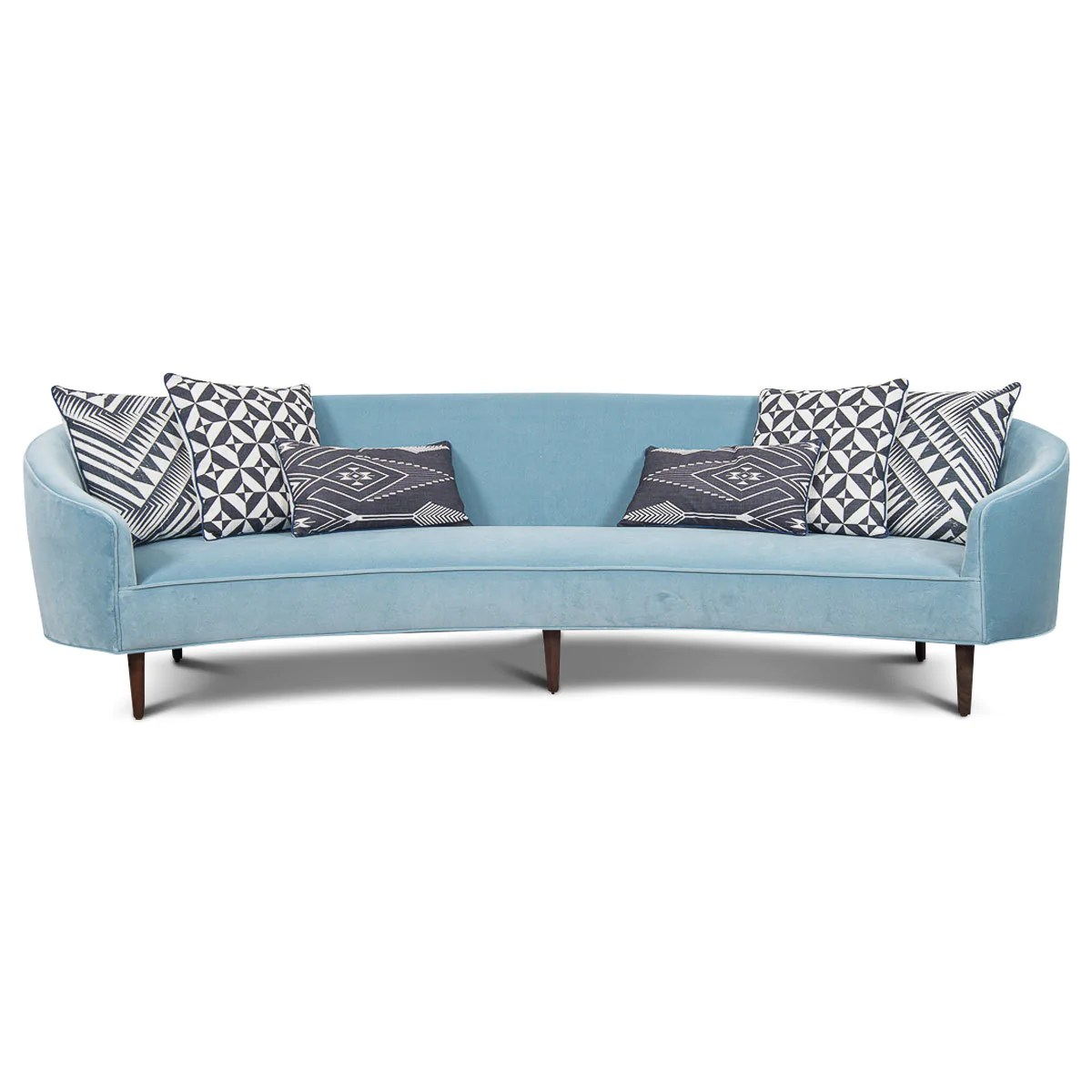 Art Deco Style Sofas Art Deco Style Crescent Sofa With Curved Arms - Modshop