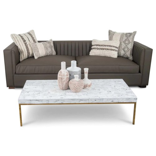 Medium Of Faux Leather Couch