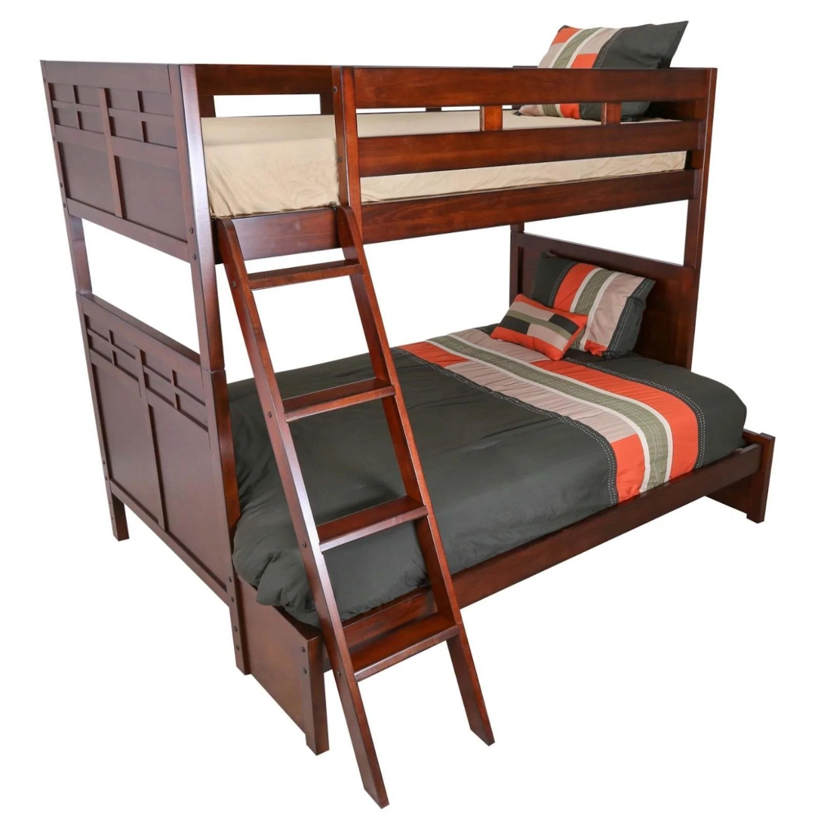 Under Bed Storage Frame Kensington Twin Full Bunk Bed With Under Bed Storage