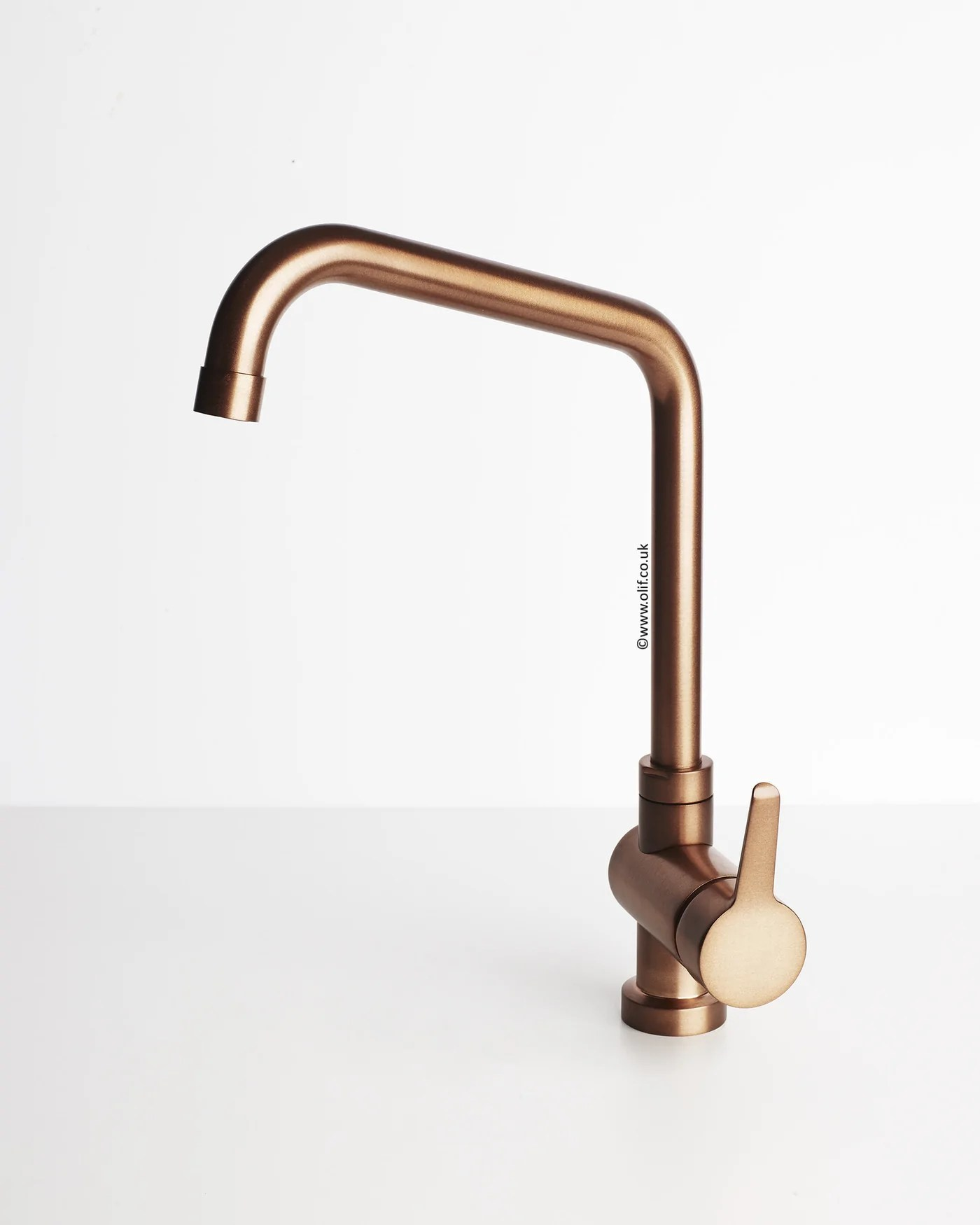 Copper Taps Brushed Copper Kitchen Mixer Tap Primo Copper By Olif