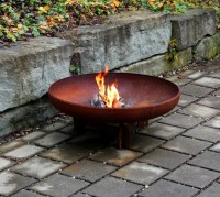 Yagoona Yabbi 80cm Outdoor Steel Fire Pit  Yagoona Design ...