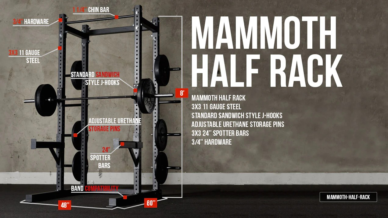 Garage Gym Half Rack American Barbell Half Rack