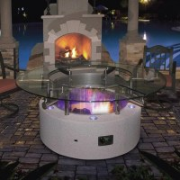 CalFlame Natural Gas/ Propane Fire Pit Table Height  Fire ...