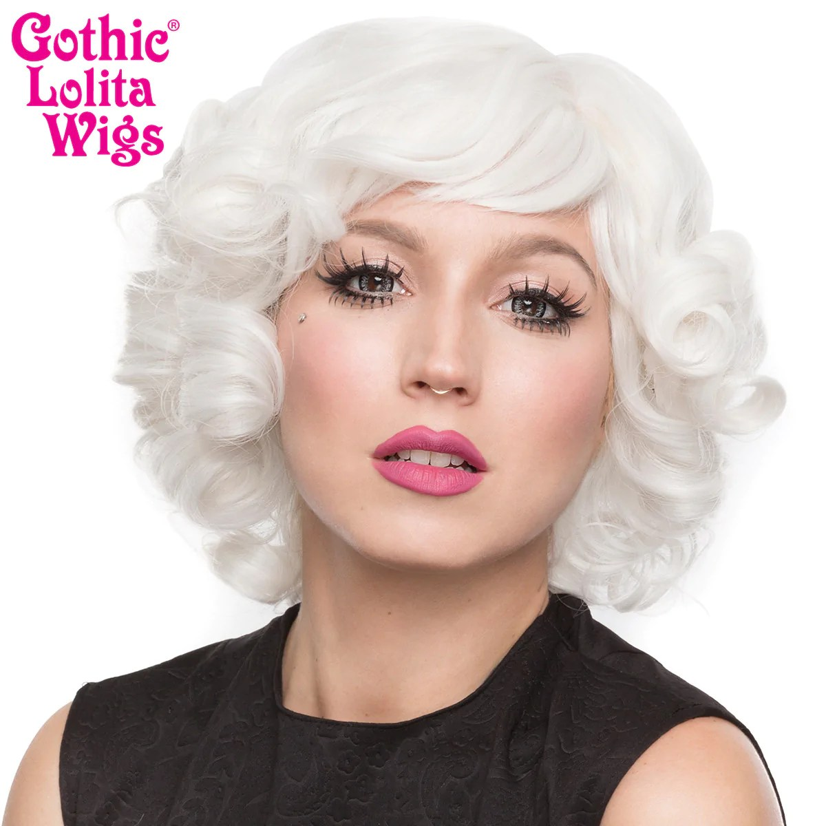 Orange Wig Bob Gothic Lolita Wigs® Curly Bob™ White – Dolluxe®