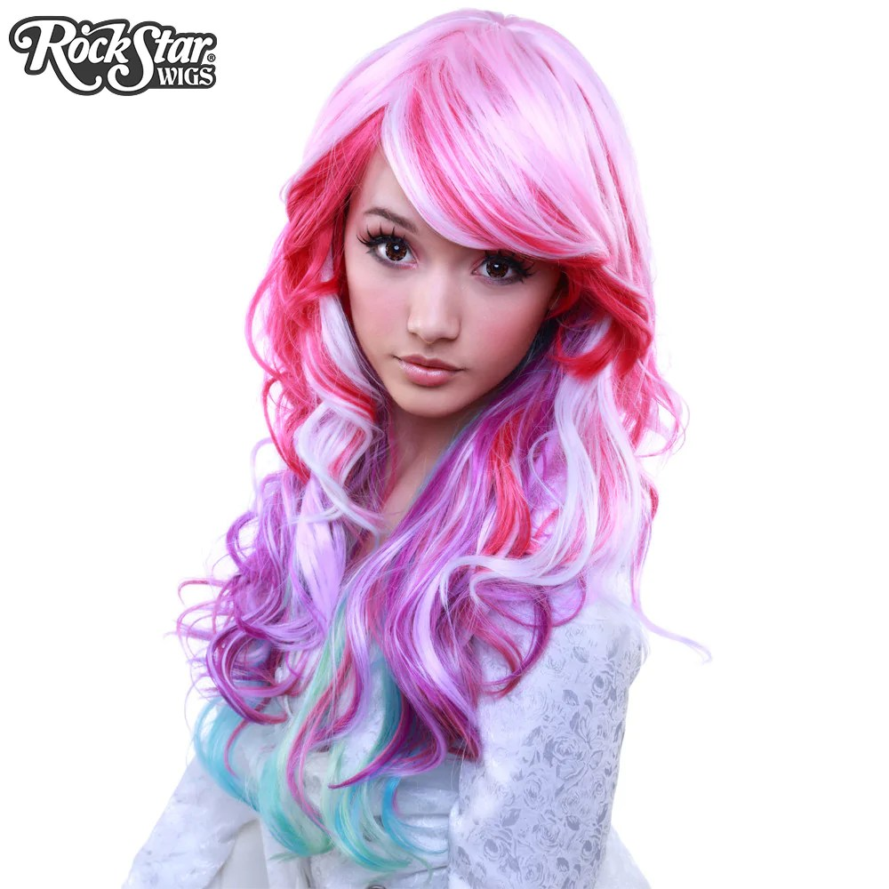Rainbow Haare Rockstar Wigs® Rainbow Rock™ Collection - Spring Bouquet