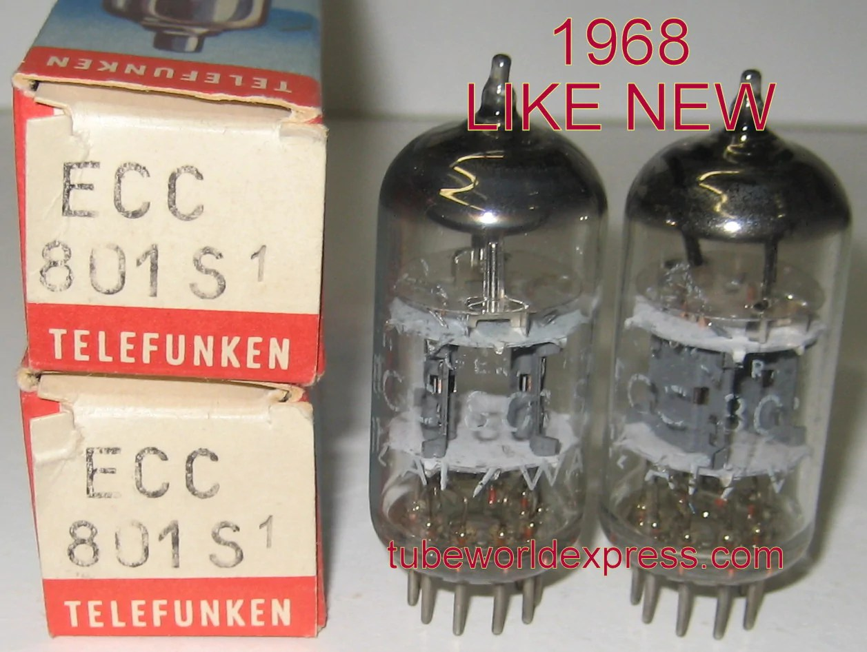 Telefunken Test 1 Ecc801s Telefunken Best Value Pair Ecc801s 12at7 Telefunken Germany Bottom 1968 Test Like New