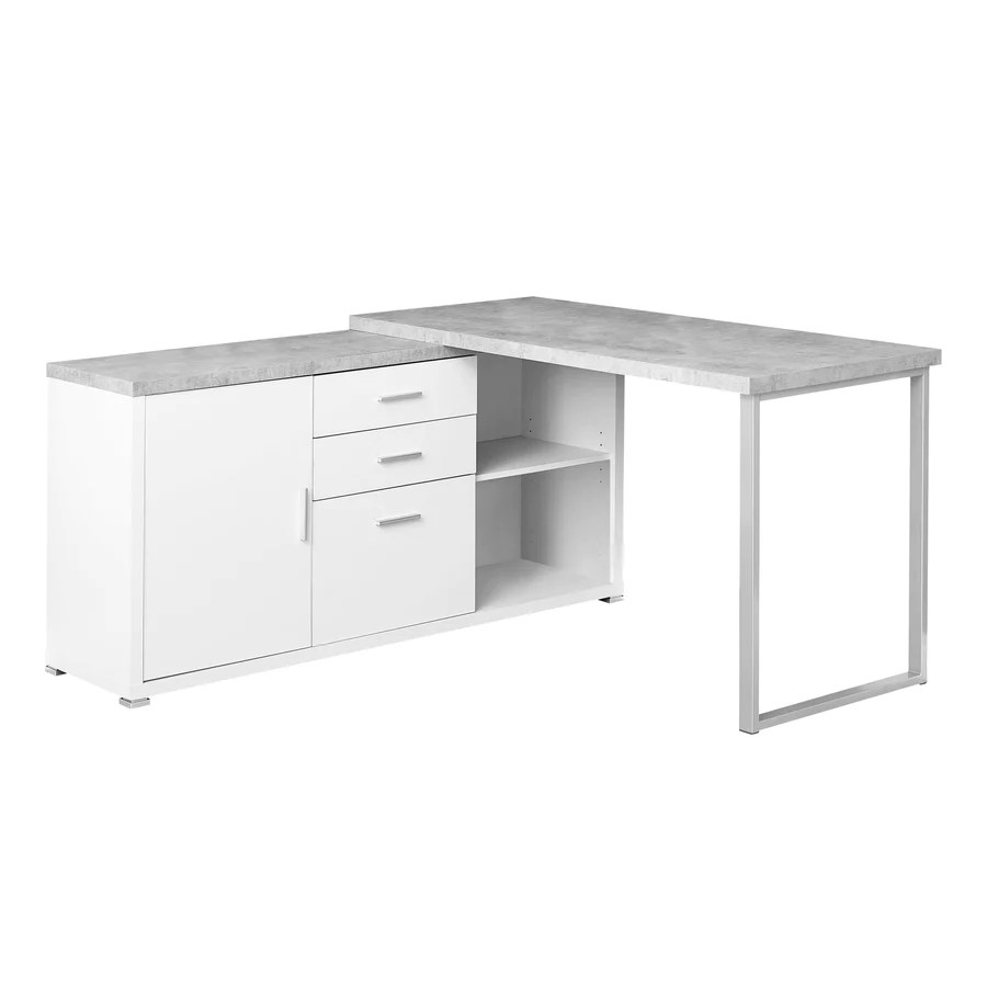 White Office Desk Corner Desks Hutch For Home Office Computer At Officedesk