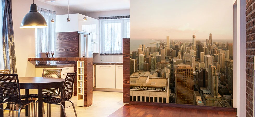 Cozy Fall Wallpaper Cityscape Wall Murals Cityscape Removable Wallpaper