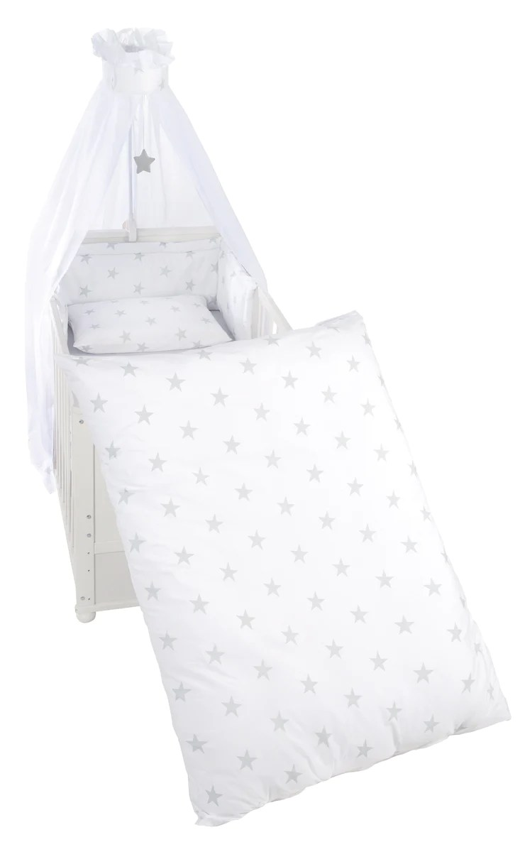 Kinderbettgarnitur Little Stars 4 Tlg Bettset Mit Bettwäsche 100 X Roba