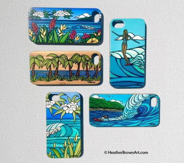 Flowers Of Hawaii Iphone 7 Case Heather Brown Art
