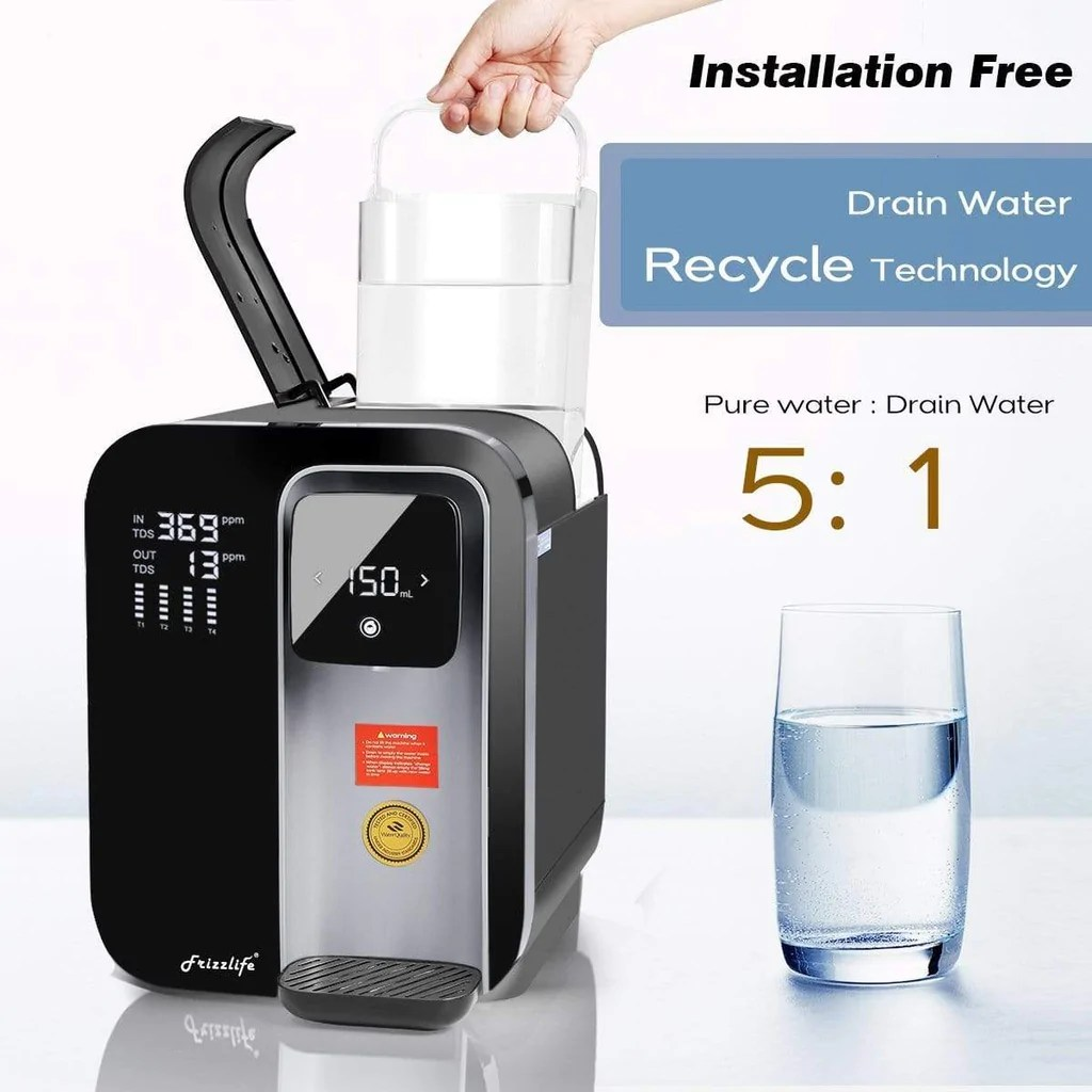 Flash Sale Frizzlife Reverse Osmosis Countertop Water Filter System Wa99 Home Shopping World
