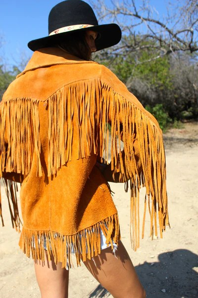 Long Fringe Dress Suede Chestnut 1960s Suede Fringe Jacket – Honeywood