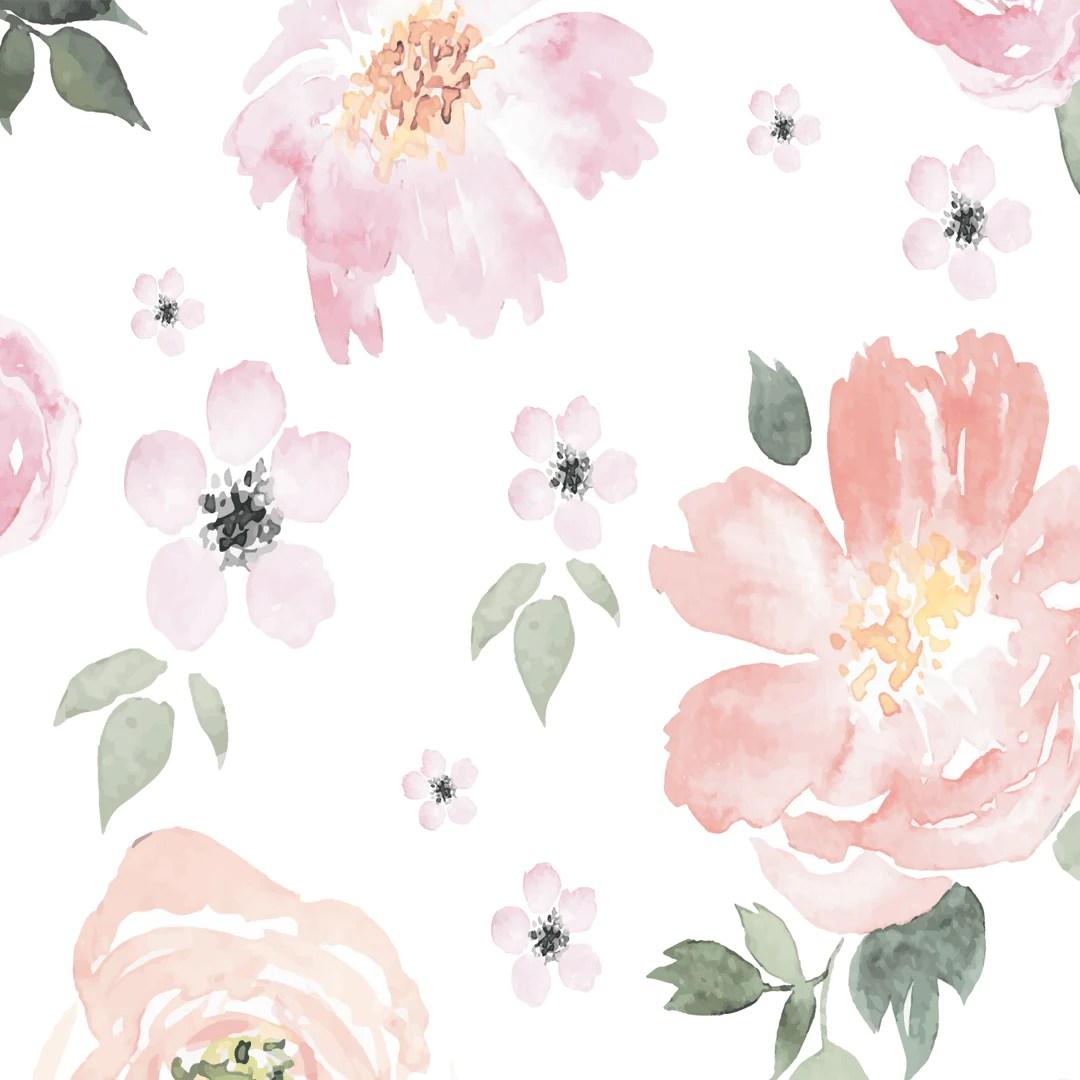 Pale Pink Wallpaper For Girl Nursery Jolie Wallpaper Project Nursery