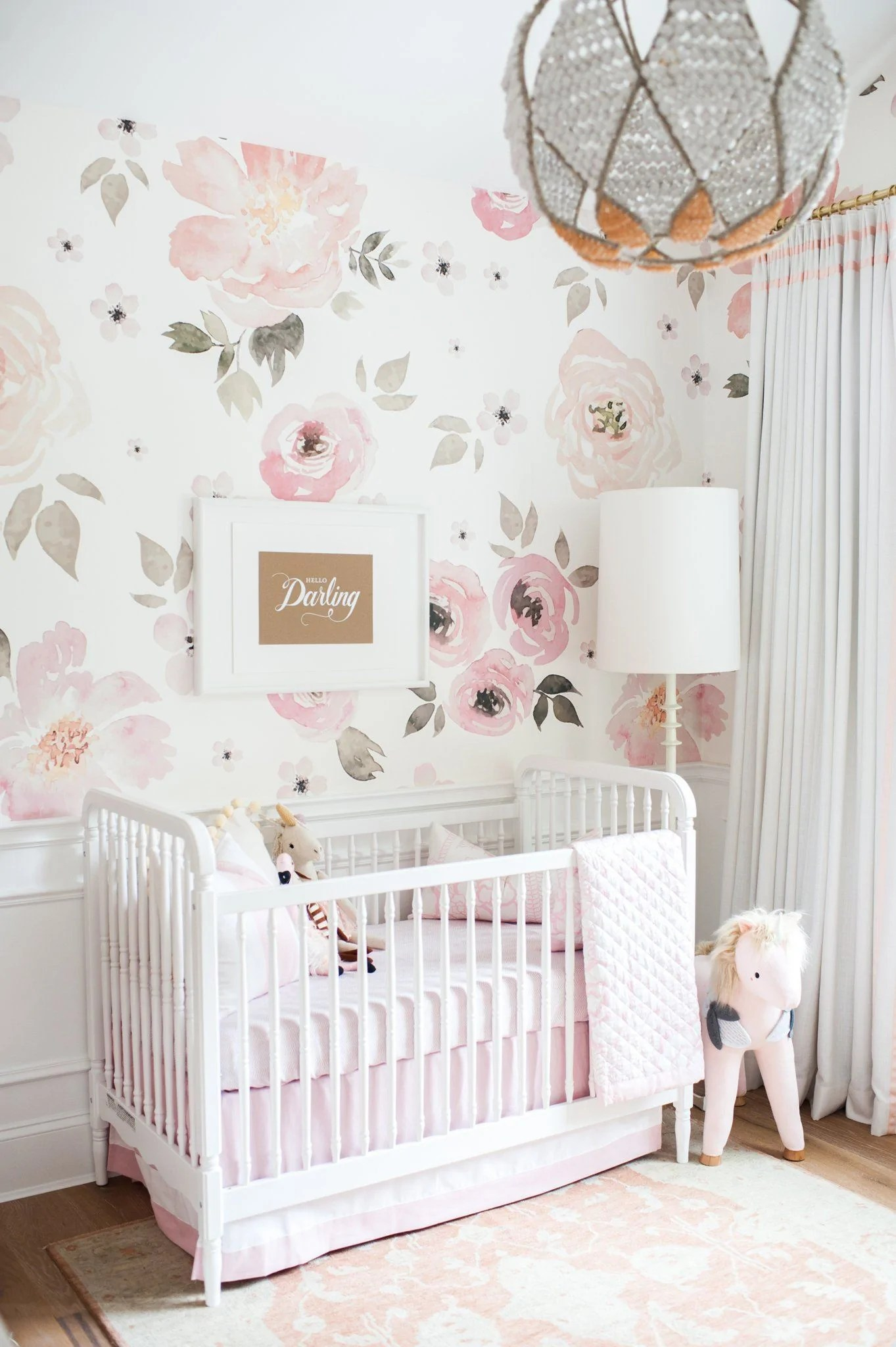 Wandtapete Kinderzimmer Jolie Wallpaper – Project Nursery
