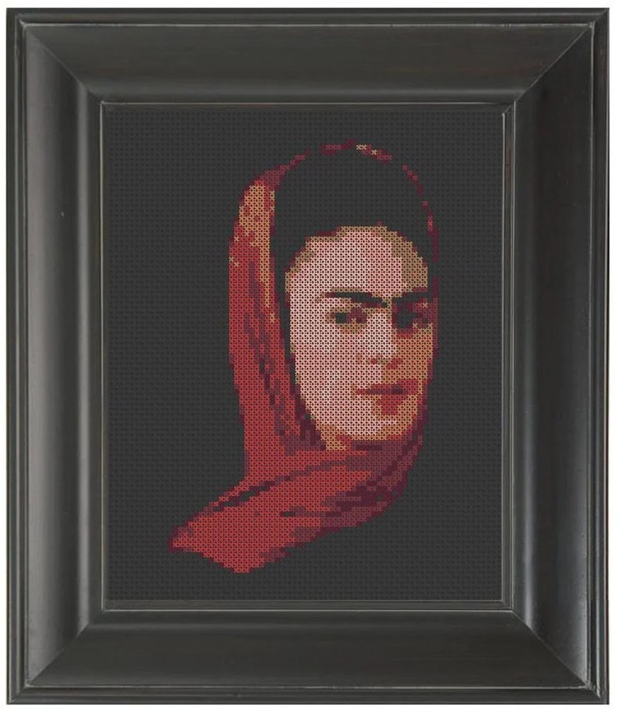 V Quotes Dmc Frida Kahlo - Cross Stitch Pattern Chart – Crass Cross