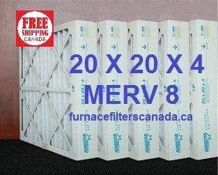 Merv 8 16 X 20 X 4 Furnace Filters Canada Box Of 6