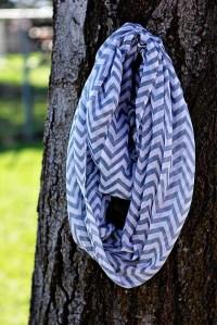 The Olivia Scarf - Gray Chevron - iscarf2
