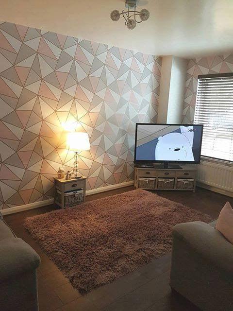 Purple And Black Bedroom Wallpaper Rose Gold Dream Livingroom Wonderwall By Nobletts