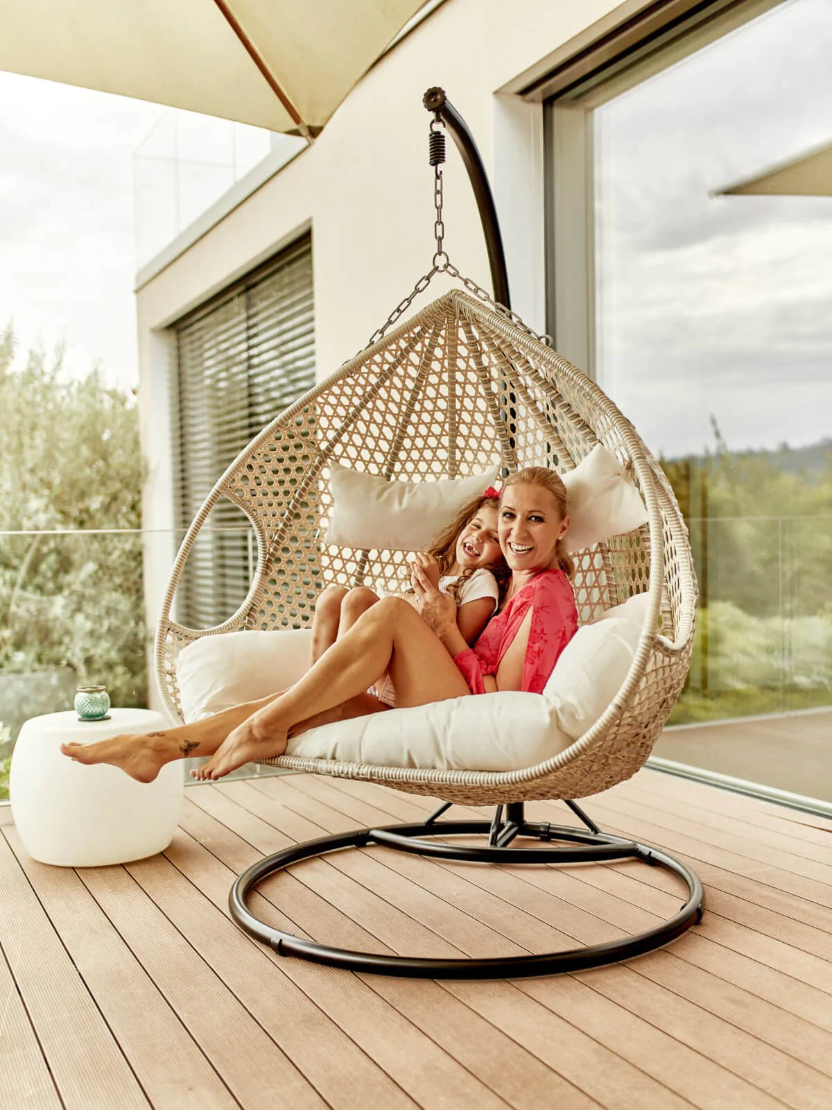 Luxus Twin Hängesessel Xxl Aus Polyrattan Indoor Outdoor