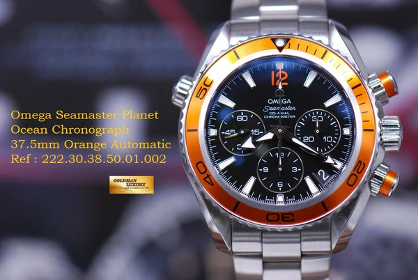 Luxury Quartz Watch Omega Seamaster Planet Ocean Chronograph 37.5mm Automatic