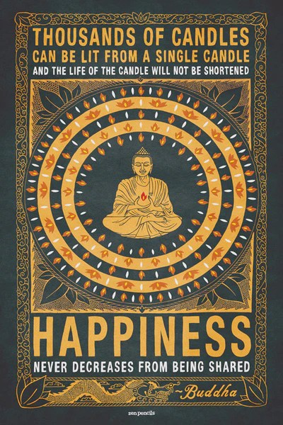 Zen Quote Wallpaper Thousands Of Candles Poster Grey Variant Zen Pencils Zen