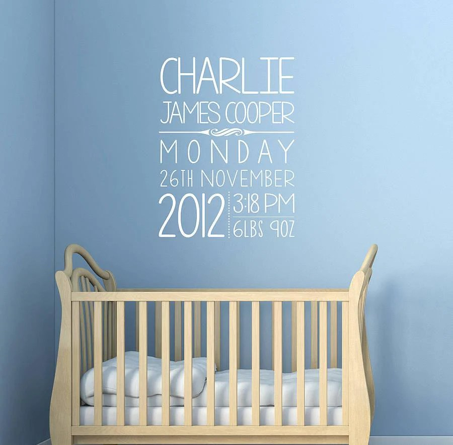 Personalised Sticker Personalised Kids Birthday Wall Sticker Oakdene Designs