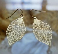 filigree leaf earrings  Unico