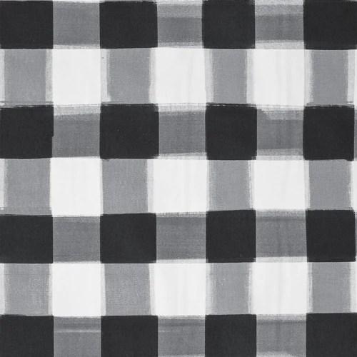 Black And White Floral Wallpaper Black Burnside Buffalo Check Fabric Caitlin Wilson