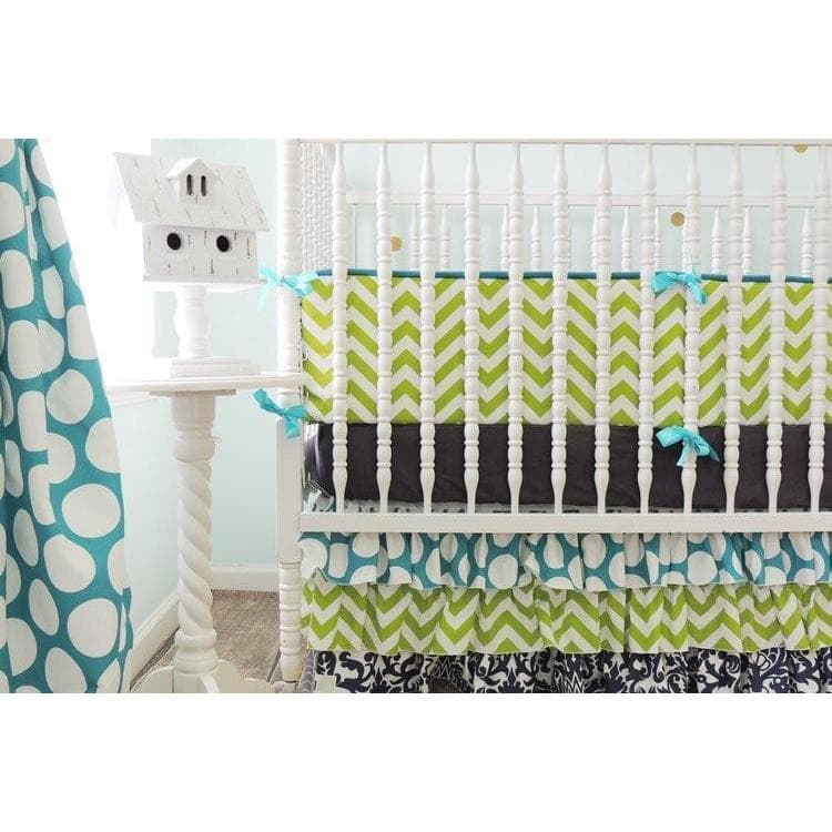 Chevron Damask Baby Bedding