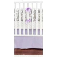 Lavender & Gray Damask Wisteria in Lavender Baby Bedding ...