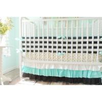 Striped Bumper Baby Bedding   Black, White Crib Bedding ...