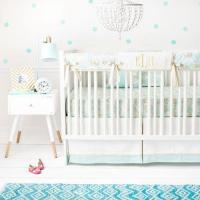 Unicorn in Mint Crib Baby Bedding Set  Jack and Jill Boutique