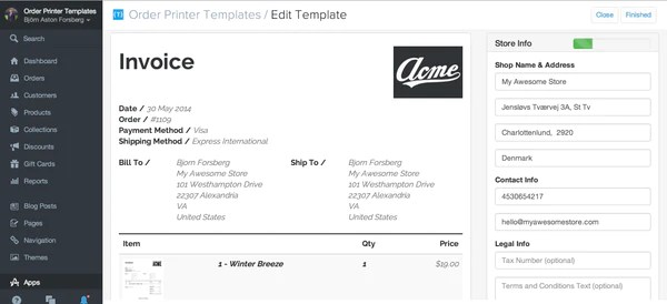 invoice template shopify   how to write your name in resume, Invoice examples
