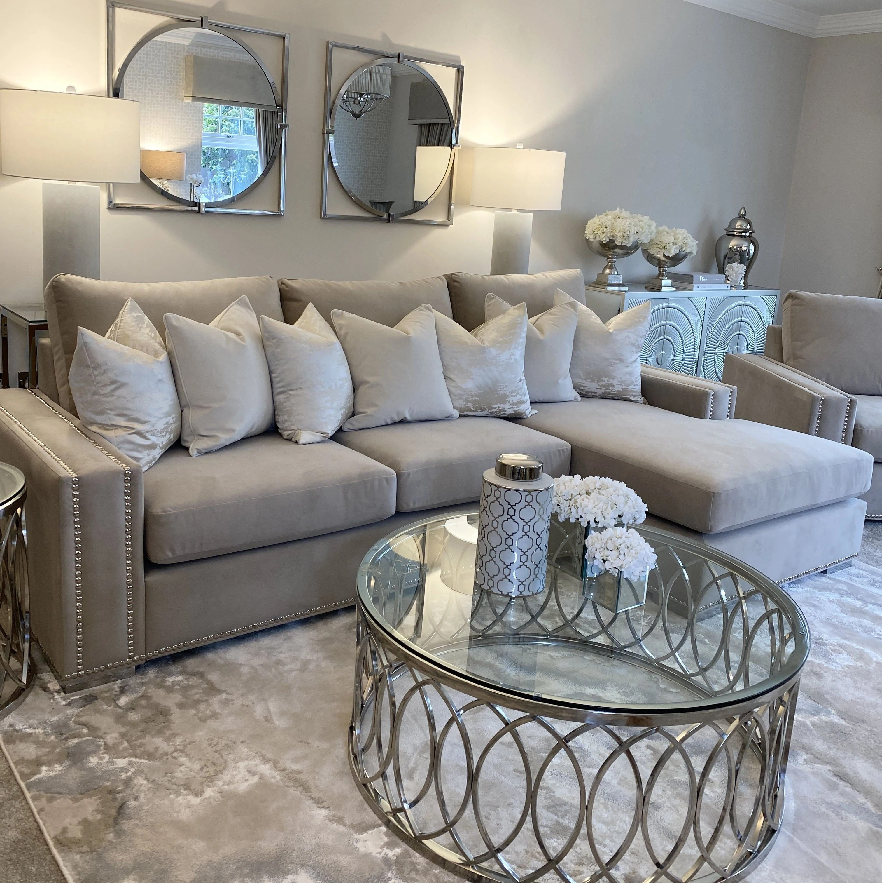 Olivia Platinum Luxury Sofa Collection Rowen Homes