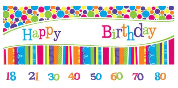 Birthday Banner Nz Giant Birthday Banner - Customise | Just Party Supplies Nz