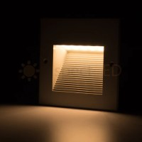 In-Wall Recessed LED Step Light Square Indoor/Outdoor ...