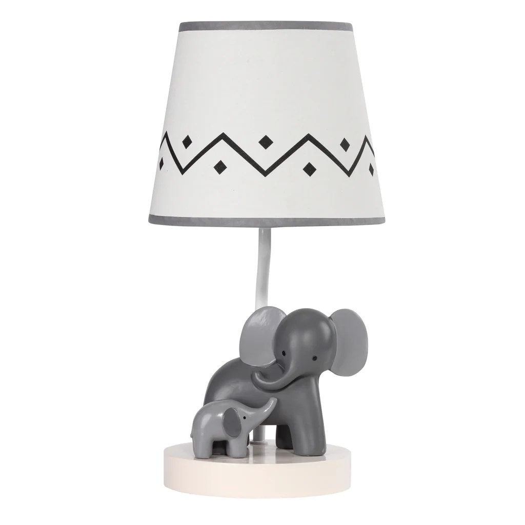 Animal Lamp For Nursery Me Mama White Gray Elephant Nursery Lamp With Shade Bulb