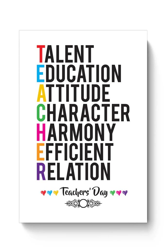 Birthday Wallpaper With Quotes For Brother Buy Teachers Day On White Poster Online India Posterguy